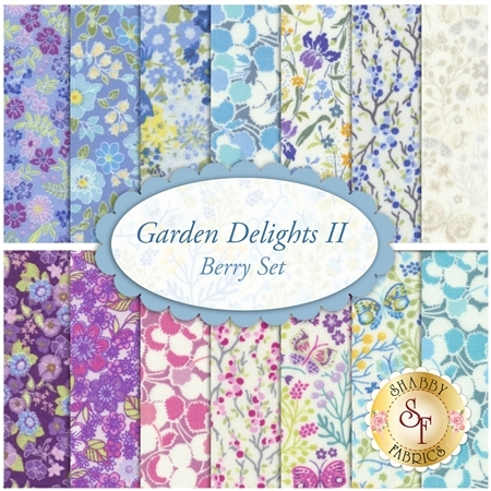 Garden Delights II  14 FQ Set - Berry Set by In The Beginning Fabrics