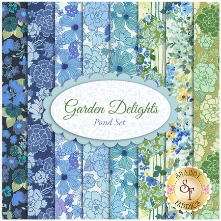 Garden Delights  8 FQ Set - Pond Set by In The Beginning Fabrics
