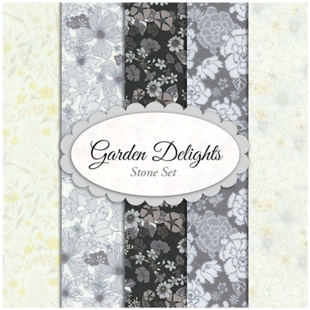 Garden Delights  5 FQ Set - Stone Set by In The Beginning Fabrics