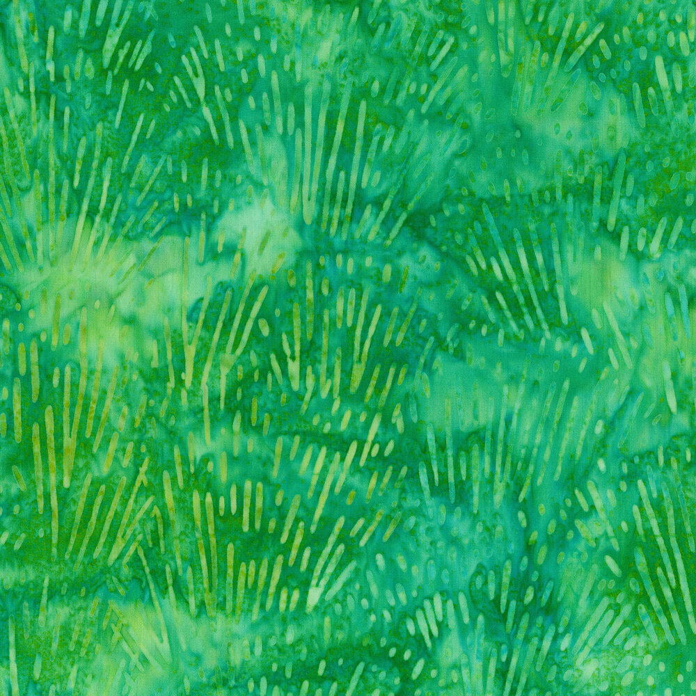 Tonal light green bursts on a marbled green background | Shabby Fabrics