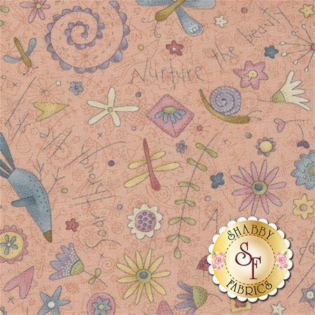 Garden Whimsy 8672-22 by Anni Downs for Henry Glass Fabrics