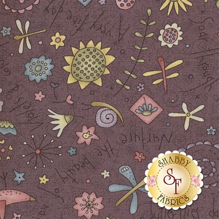 Garden Whimsy 8672-58 by Anni Downs for Henry Glass Fabrics
