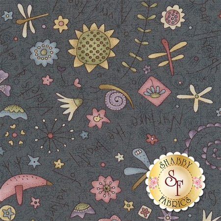 Garden Whimsy 8672-98 by Anni Downs for Henry Glass Fabrics- REM