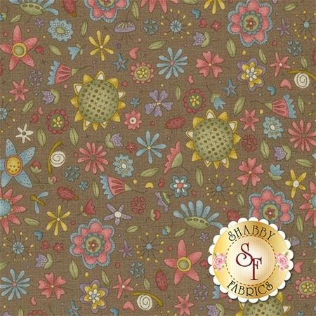 Garden Whimsy 8673-39 by Anni Downs for Henry Glass Fabrics