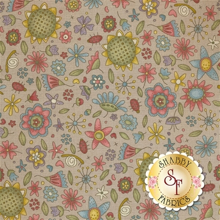 Garden Whimsy 8673-49 by Anni Downs for Henry Glass Fabrics