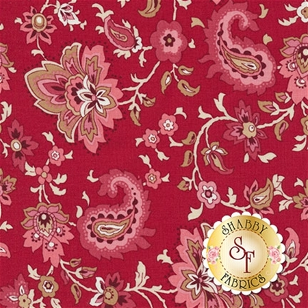 Garnet C5731-RED Paisley Red by Nancy Zieman for Penny Rose Fabrics