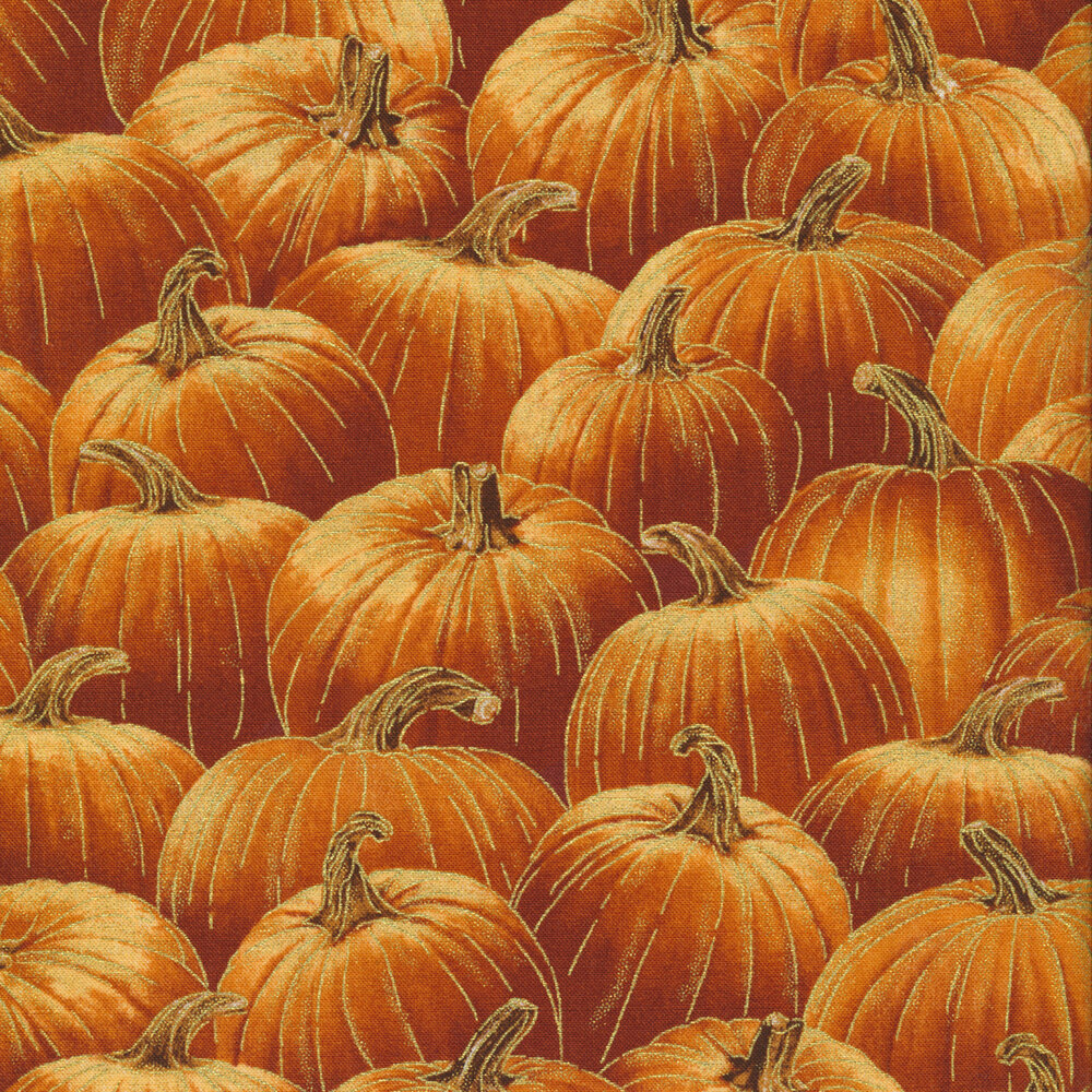Pumpkins all over | Shabby Fabrics