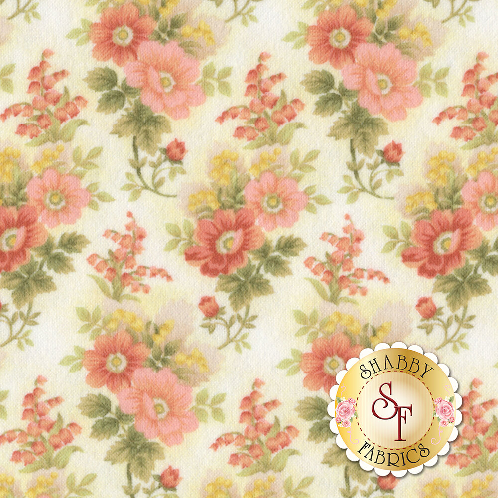 Gentle Garden Flannel F8279-40 for Henry Glass Fabrics