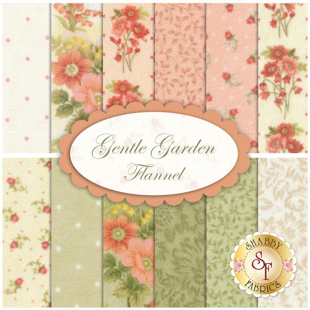 Gentle Garden Flannel  12 FQ Set for Henry Glass Fabrics