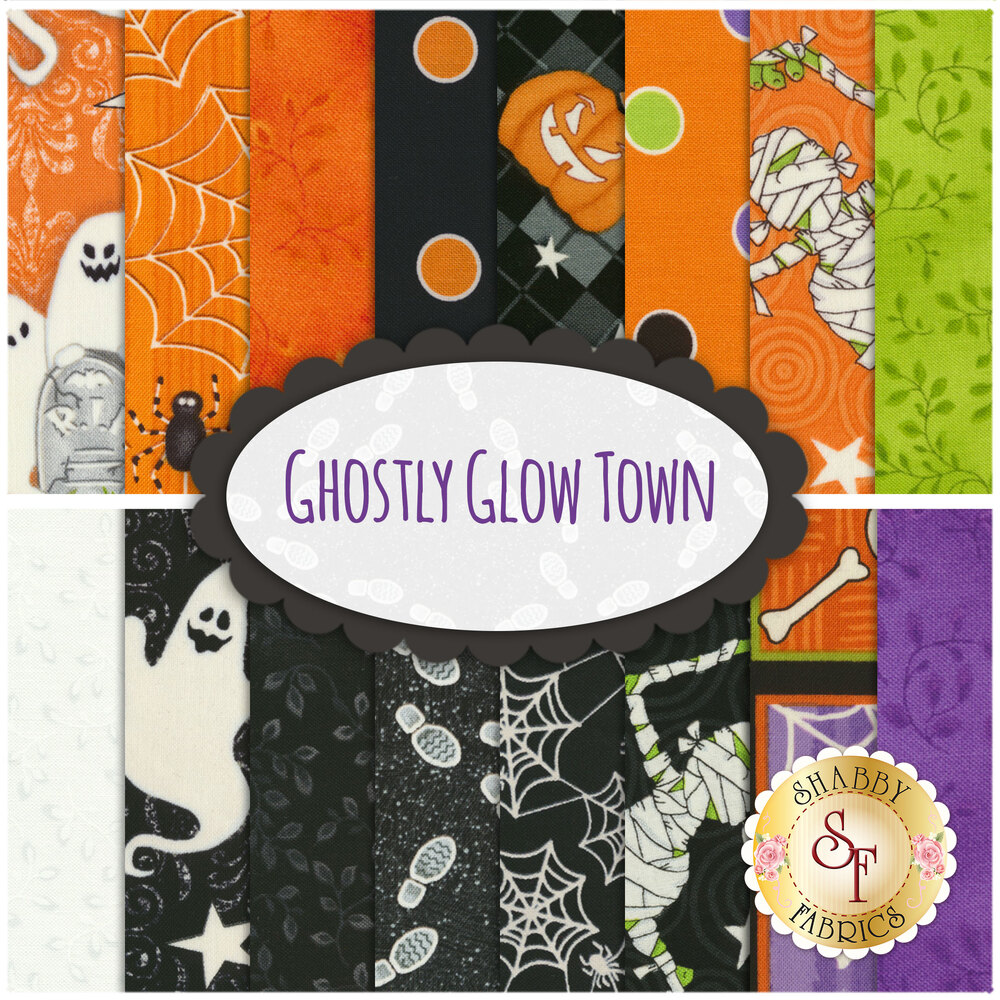 Ghostly Glow Town FQ Set by Henry Glass