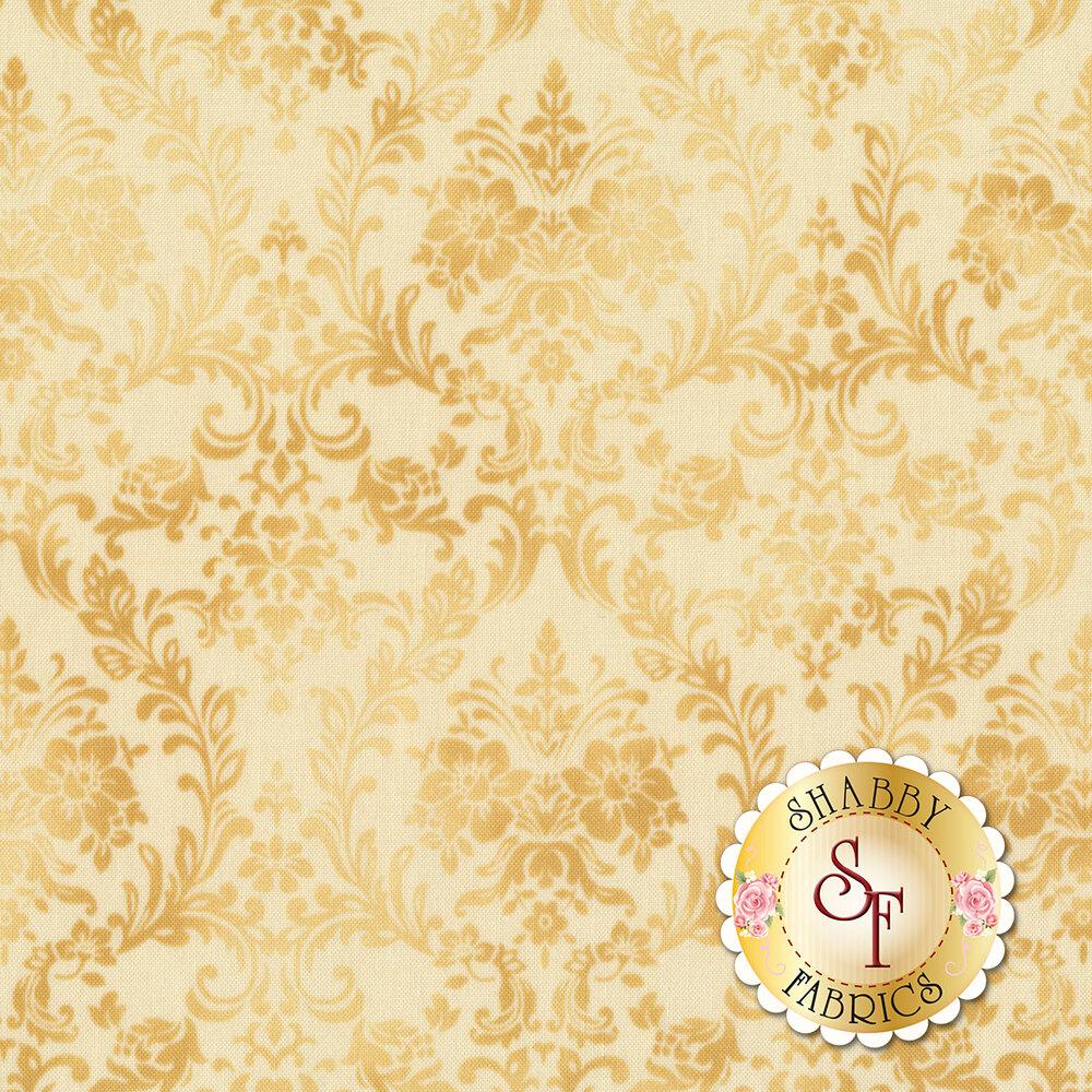 Tonal tan damask design | Shabby Fabrics