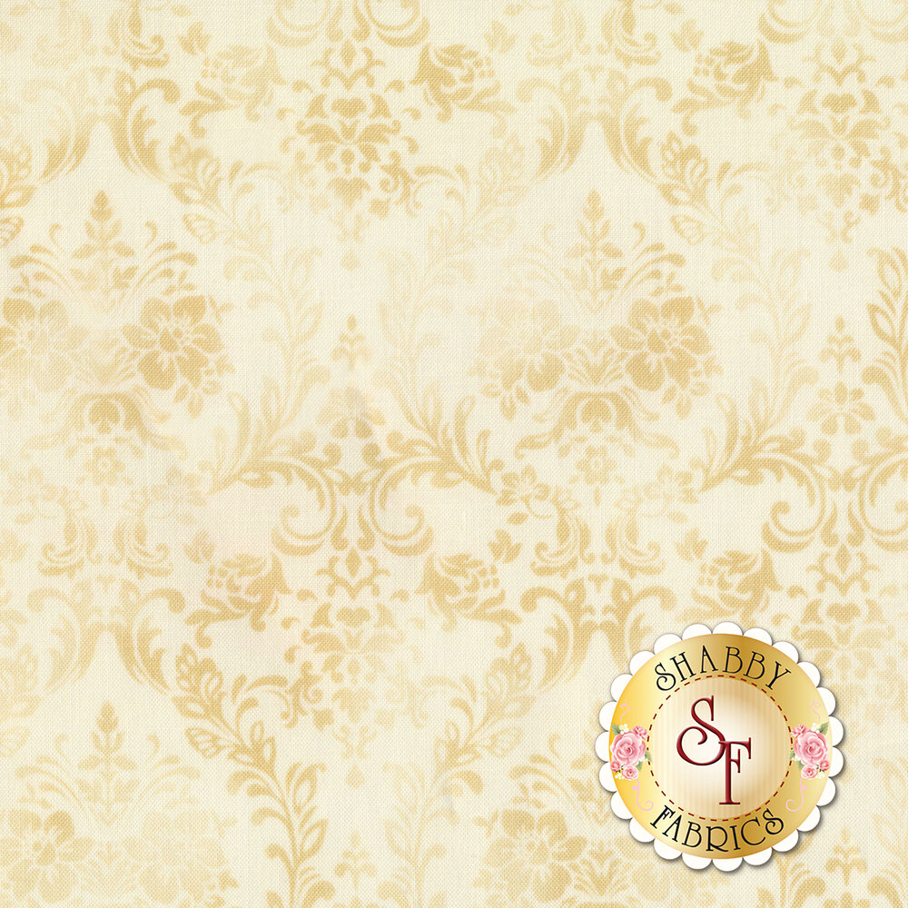 Tonal cream damask design | Shabby Fabrics