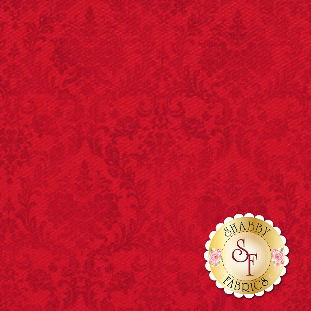Tonal red damask design | Shabby Fabrics