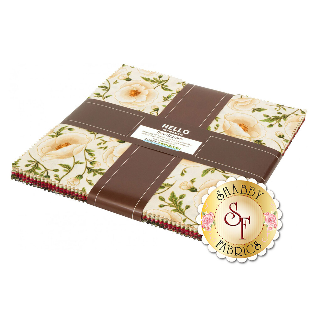 "Gilded Blooms 10"" Squares 