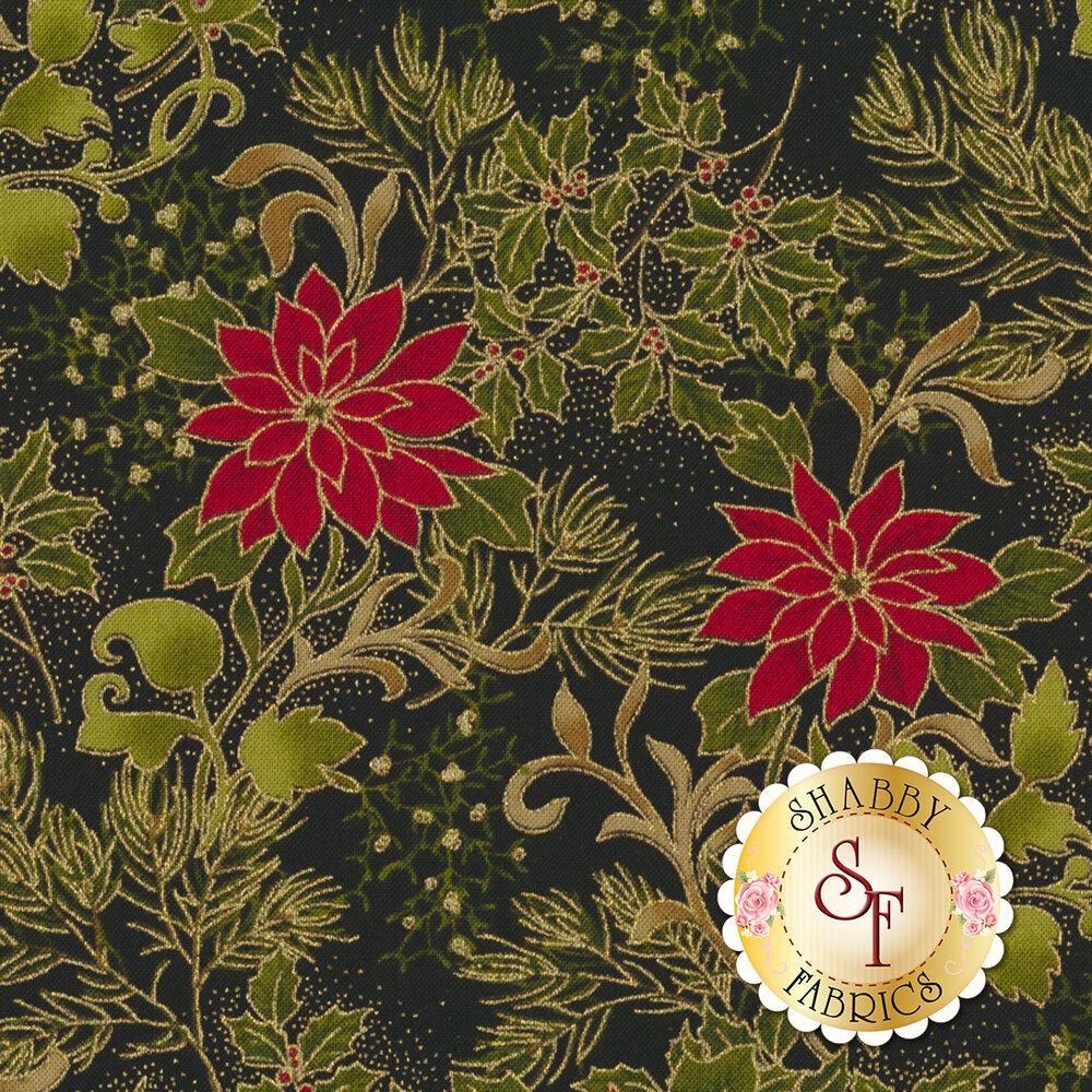 Gilded Greenery 33332-15M Ebony by Moda Fabrics