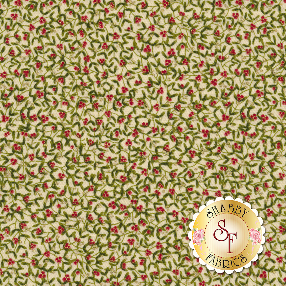 Gilded Greenery 33333-11M Cream by Moda Fabrics