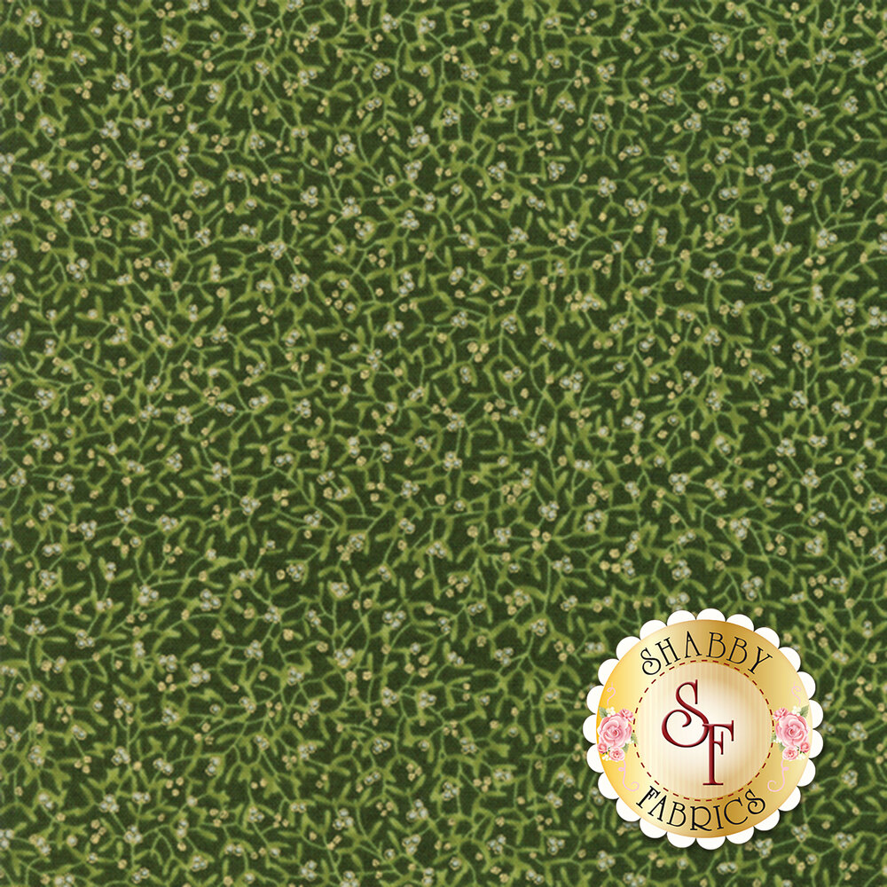 Gilded Greenery 33333-13M Evergreen by Moda Fabrics