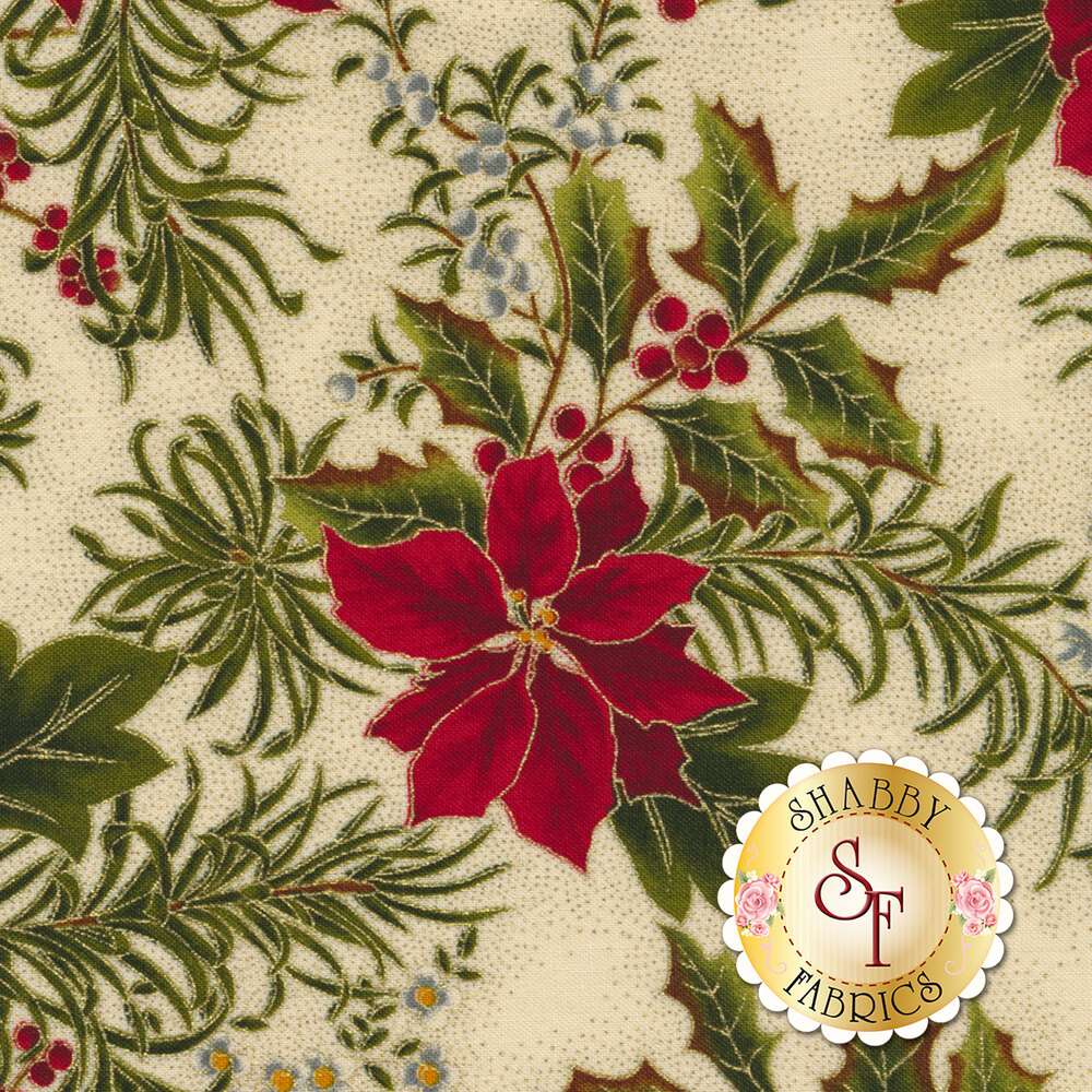 Gilded Greenery 33334-11M Cream by Moda Fabrics