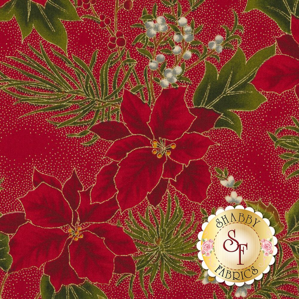 Gilded Greenery 33334-13M Crimson by Moda Fabrics