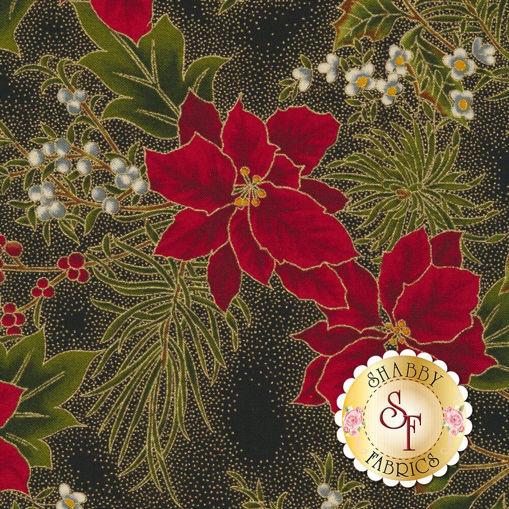 Gilded Greenery 33334-15M Ebony by Moda Fabrics