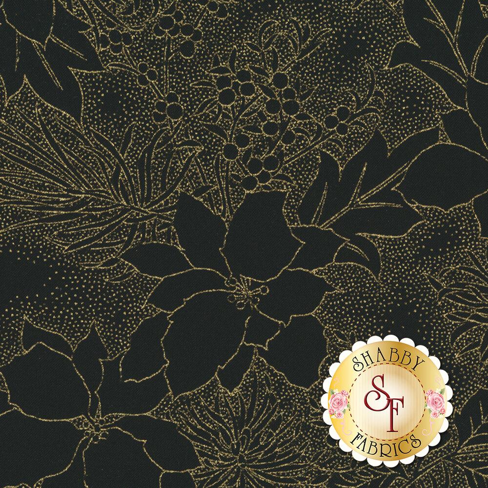 Gilded Greenery 33336-14M Ebony by Moda Fabrics