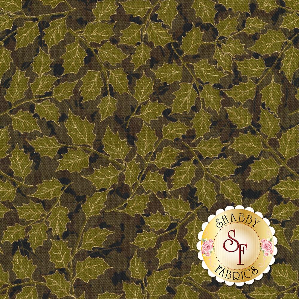 Gilded Greenery 33337-16M Ebony by Moda Fabrics