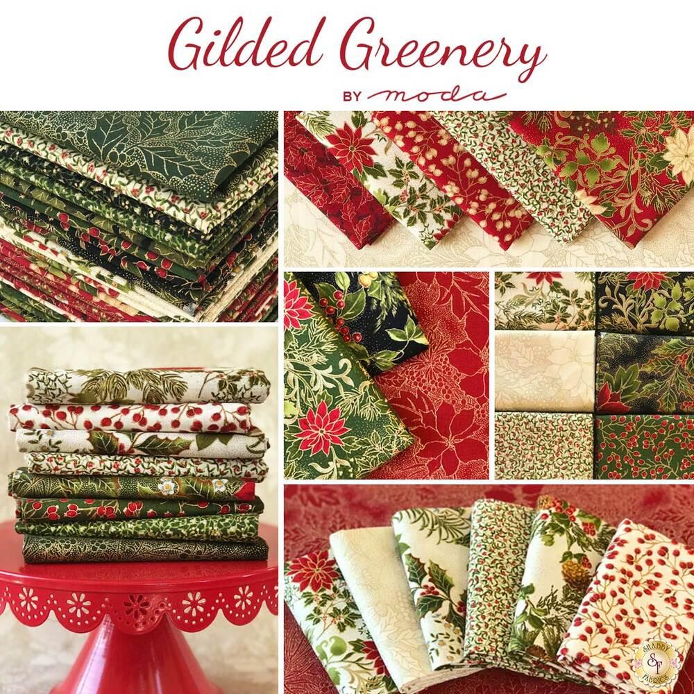 Gilded Greenery  26 FQ Set by Moda Fabrics