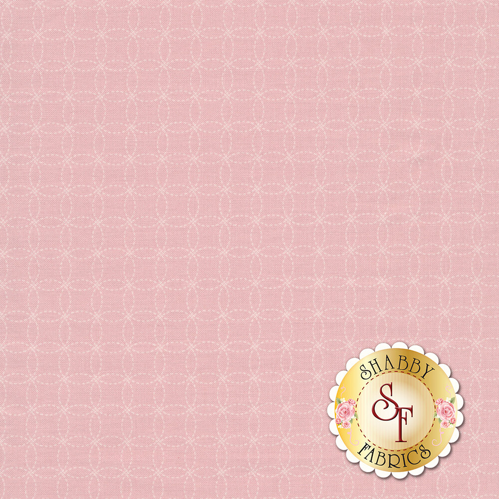 A tonal light pink cathedral window pattern on a pink background | Shabby Fabrics