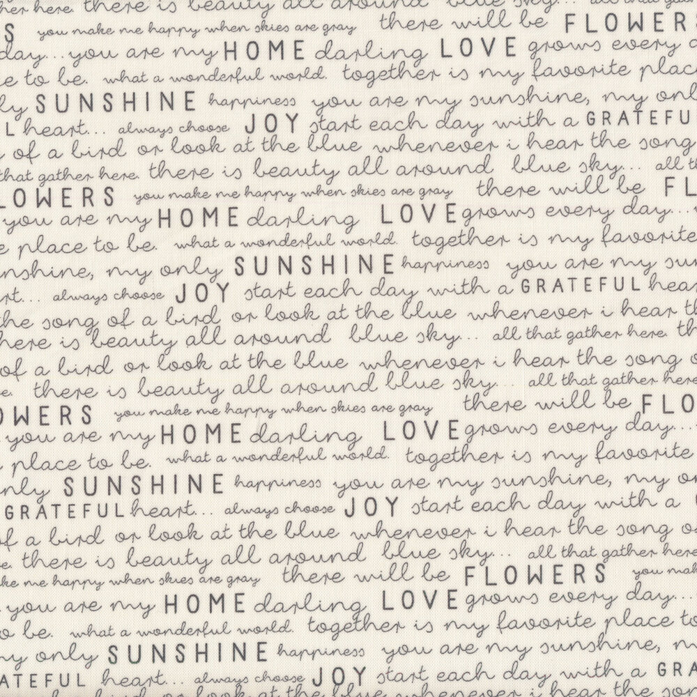 Black text on white | Shabby Fabrics