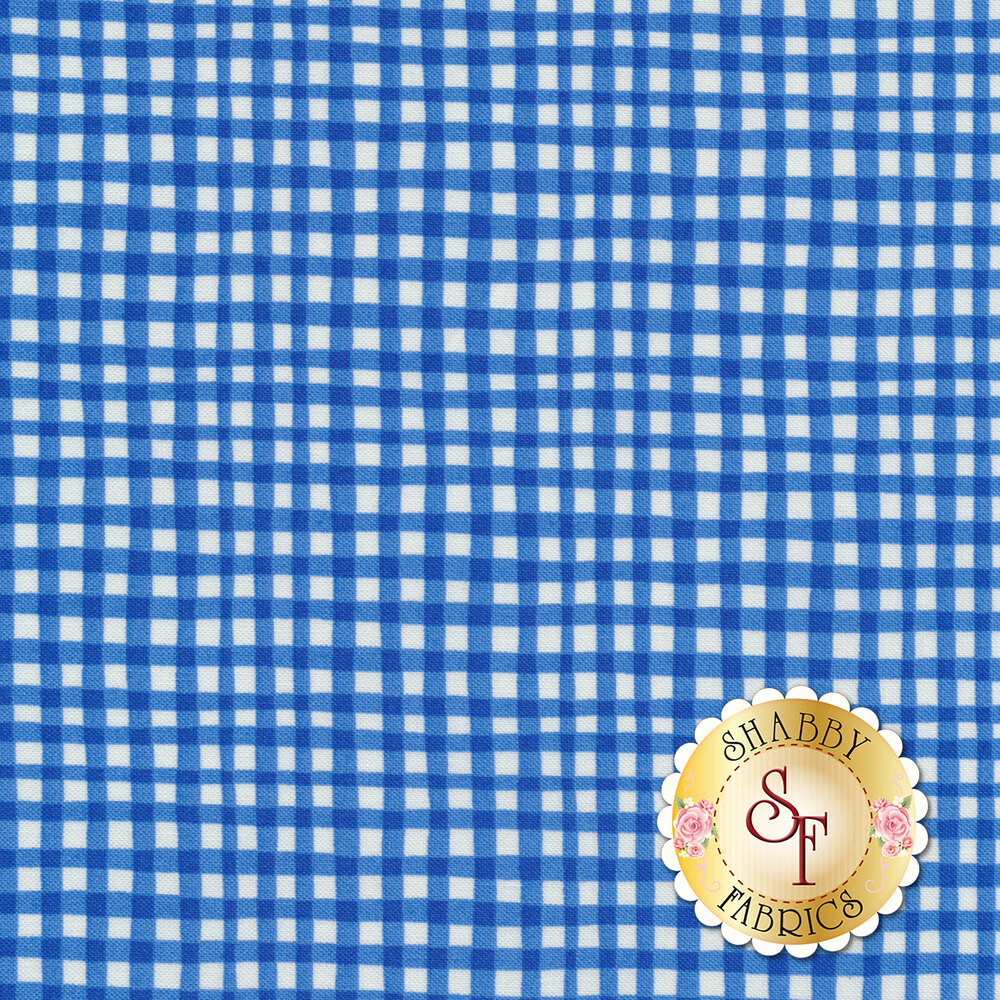 Gingham Play CX7161-AZUR-D by Michael Miller Fabrics