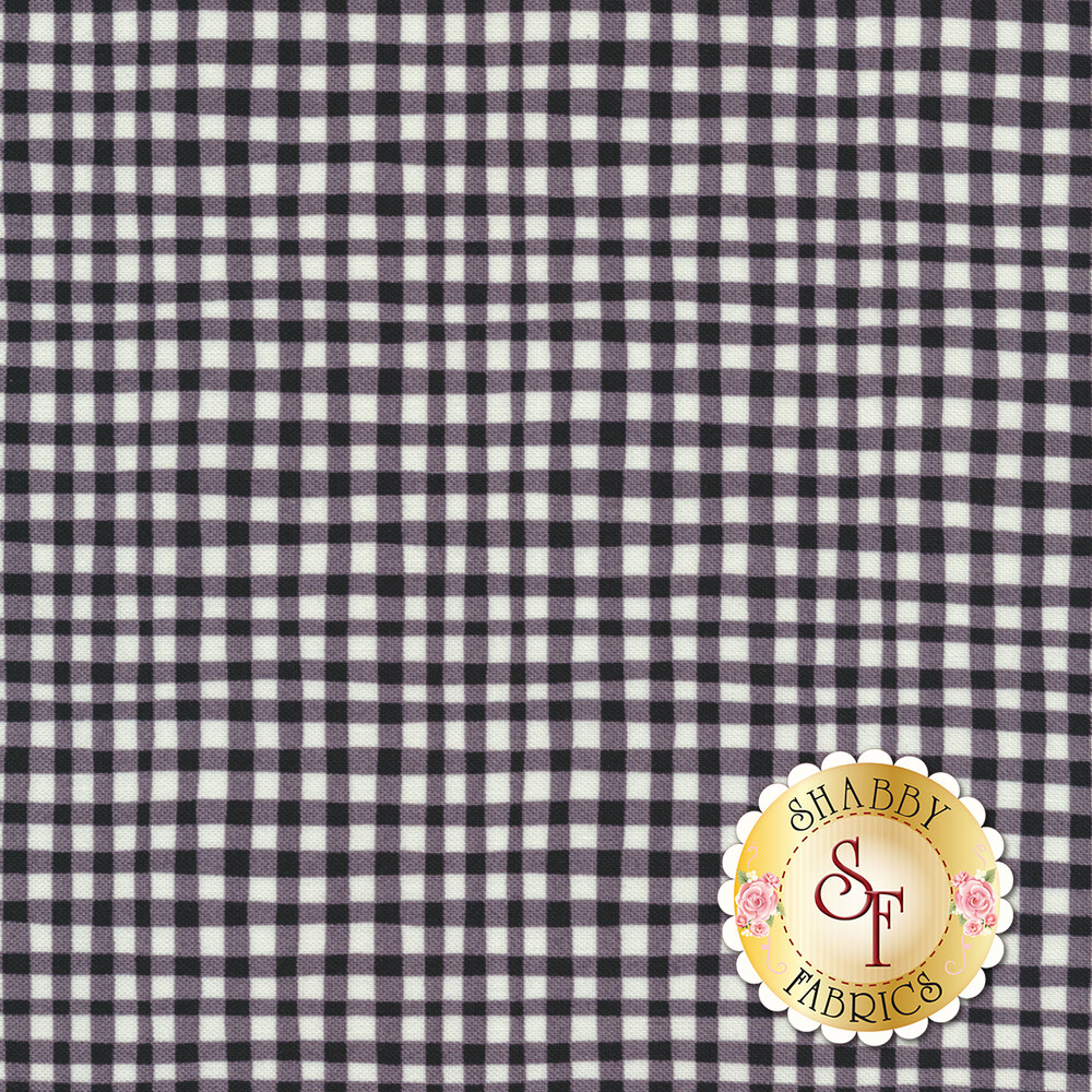 Gingham Play CX7161-BLAC-D by Michael Miller Fabrics