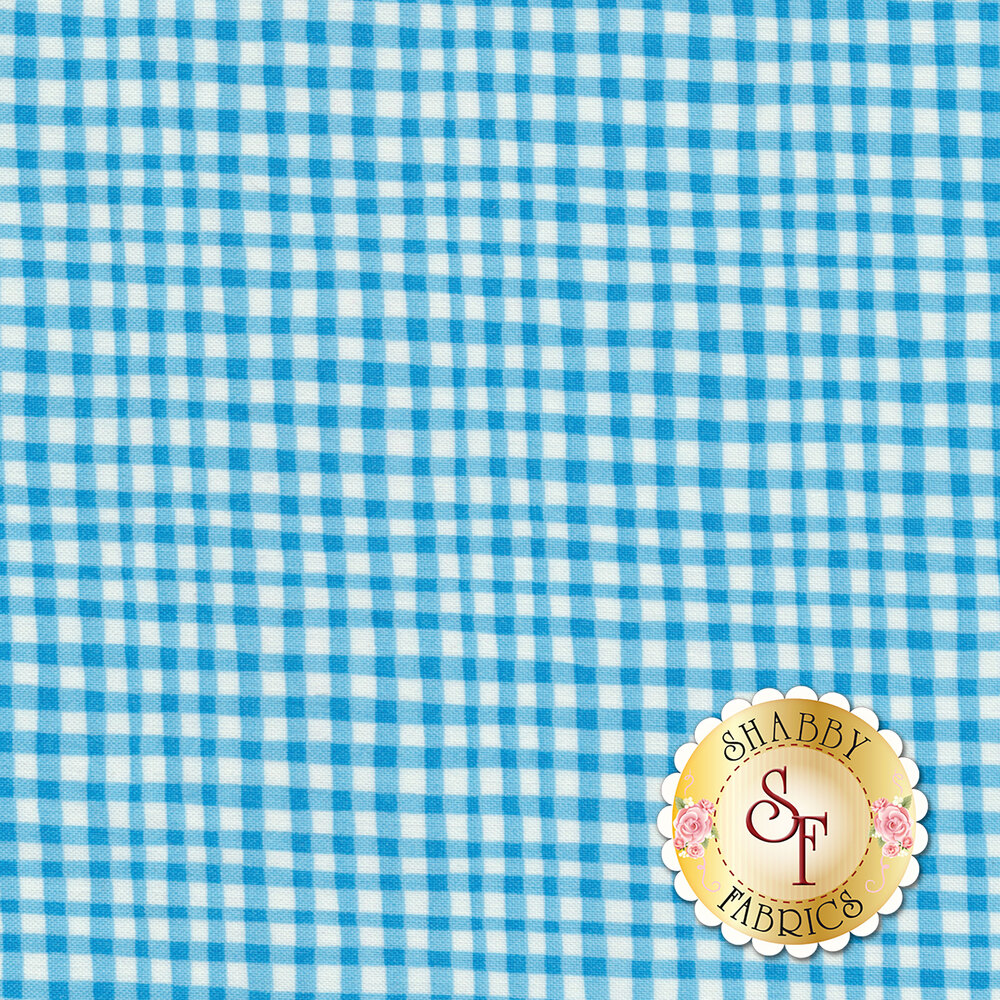 Gingham Play CX7161-BLUE-D by Michael Miller Fabrics