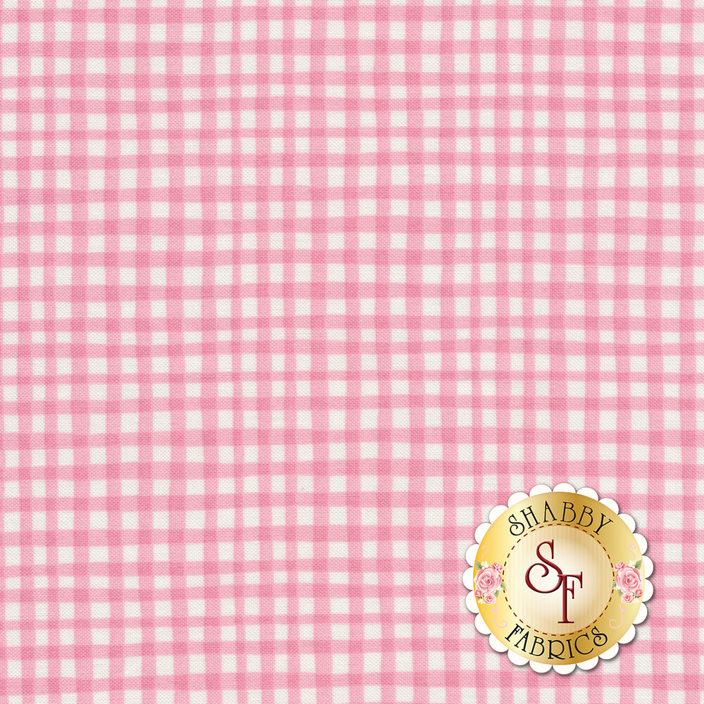 Gingham Play CX7161-CARN-D by Michael Miller Fabrics