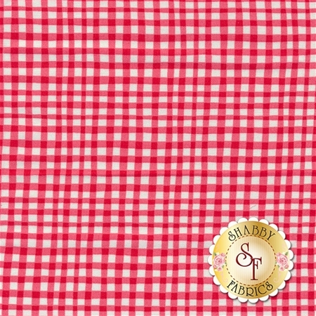 Gingham Play CX7161-CHER-D Cherry by Michael Miller Fabrics