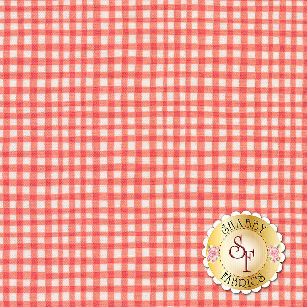 Gingham Play CX7161-CORA-D by Michael Miller Fabrics