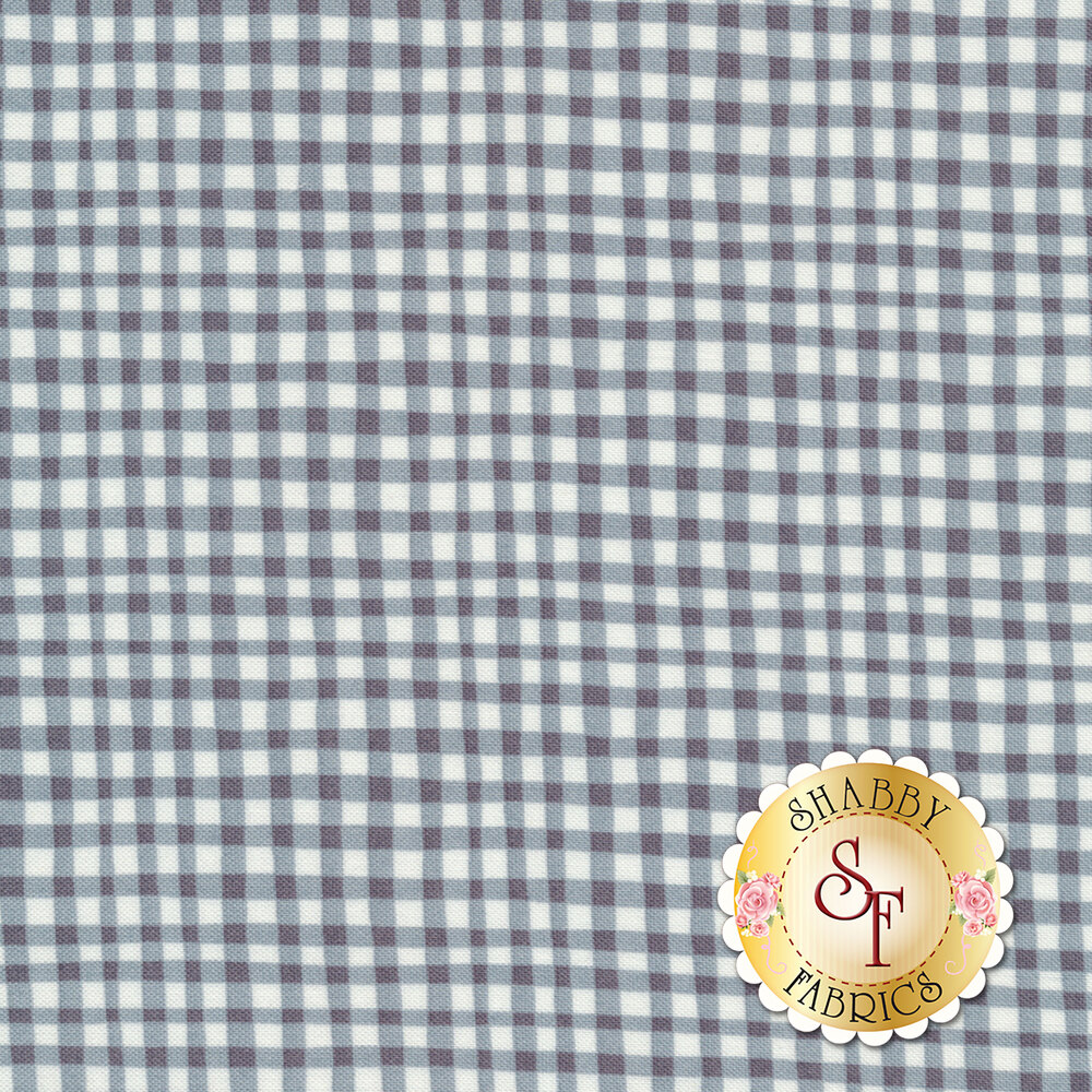 Gingham Play CX7161-GRAY-D by Michael Miller Fabrics