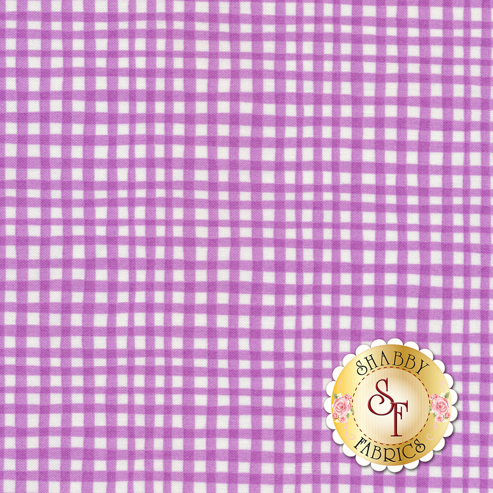 Gingham Play CX7161-LAVE-D by Michael Miller Fabrics