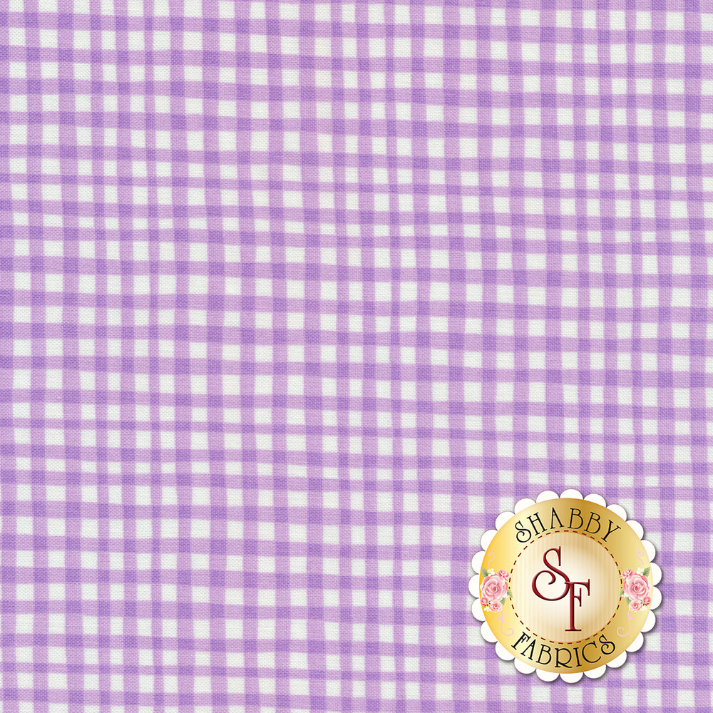 Gingham Play CX7161-LILA-D by Michael Miller Fabrics
