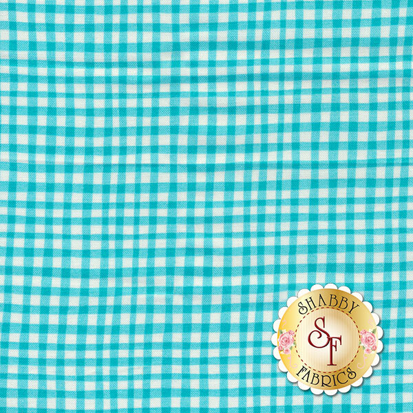 Gingham Play CX7161-LUNA-D by Michael Miller Fabrics