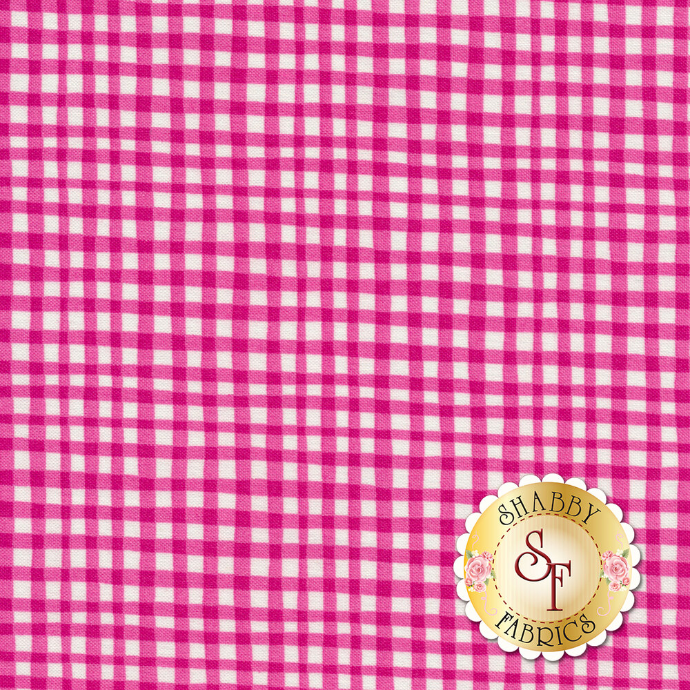 Gingham Play CX7161-MAGE-D by Michael Miller Fabrics