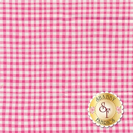 Gingham Play CX7161-PINK-D Pink by Michael Miller Fabrics