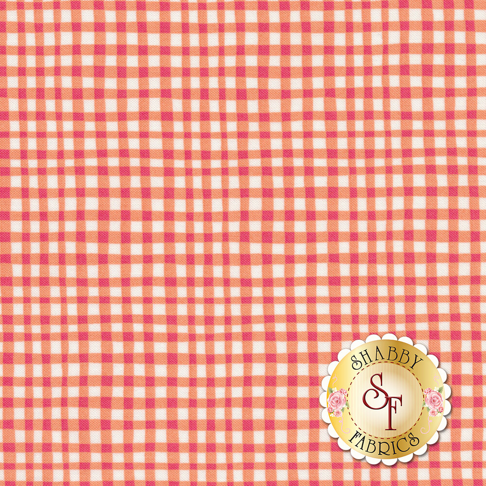 Gingham Play CX7161-TANG-D by Michael Miller Fabrics