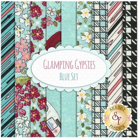 Glamping Gypsies  9 FQ Set -  Blue Set by Troy Corporation