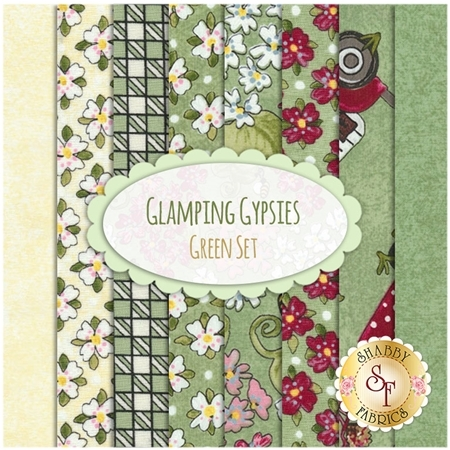 Glamping Gypsies  8 FQ Set -  Green Set by Troy Corporation