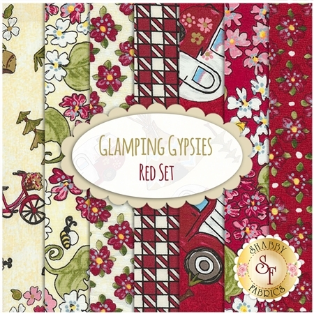 Glamping Gypsies  7 FQ Set -  Red Set by Troy Corporation