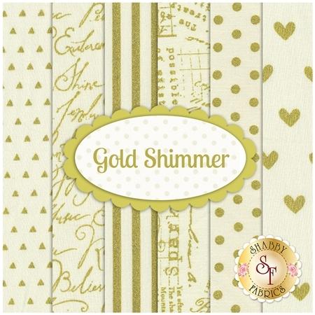 Gold Shimmer  6 FQ Set for Adornit Fabrics