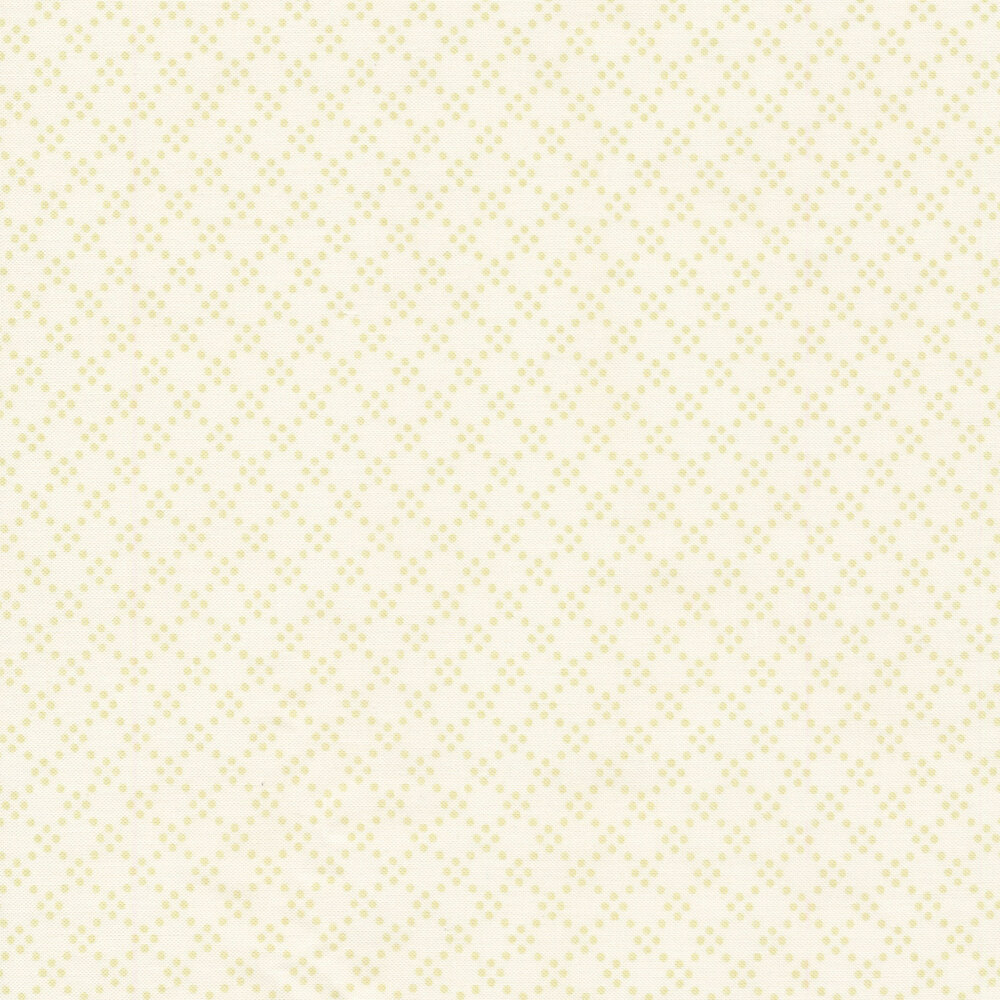 Green geometric dots on a white background