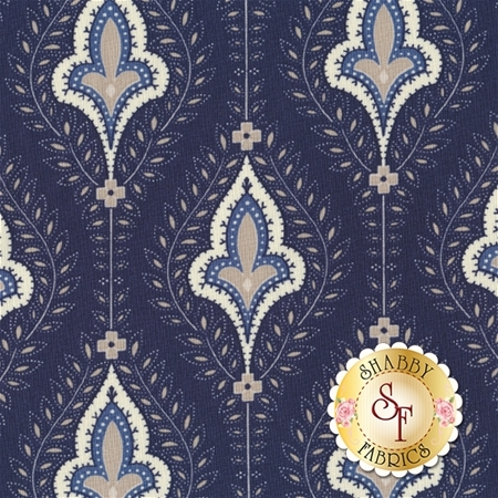 Grand Traverse Bay 14820-16 Navy by Minick And Simpson for Moda Fabrics