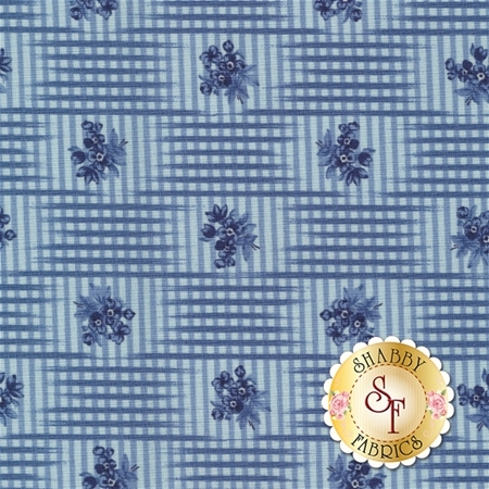 Grand Traverse Bay 14823-14 Medium Blue by Minick And Simpson for Moda Fabrics
