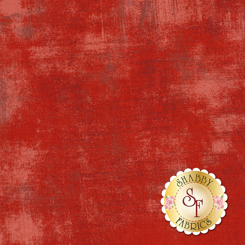 Red grunge textured fabric | Shabby Fabrics